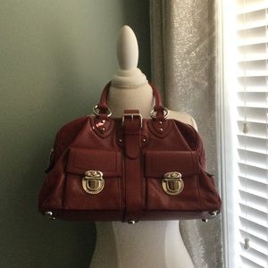 Marc Jacobs red leather Blake purse